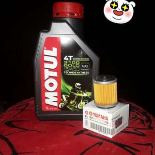 Engine Oil Motul 3100 15w50 + filter ori yamaha