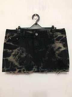 黑色牛仔短裙  L