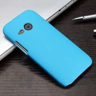 HTC ONE M7 Glossy Matte Rubber Back Snap On Hard Cover skybl