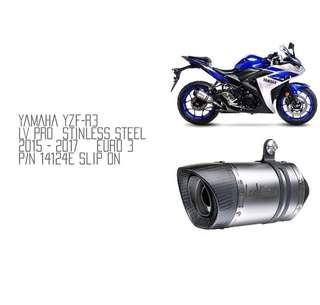 15-17 Yamaha YZF-R3 (Euro3) Leo Vince Slip-On Exhausts