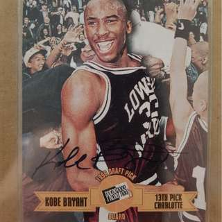 Kobe Bryant Autographed NBA Rookie Trading Card