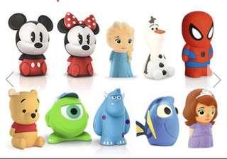 Disney 小夜燈 USB 電芯 兒童