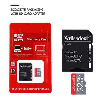 ✅👍 Good Quality High Speed TF / Micro SD 32Gb Memory Card class C10-SDHC bundle with a Free SD card adapter (limited stock)