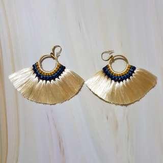 Bohemian Tassel/ Floral Earrings