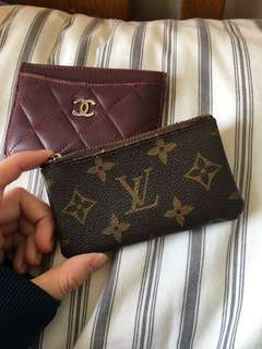 Chanel card holder  and lv coins bag