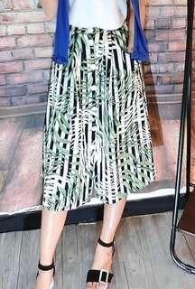 棉麻口袋葉子裙