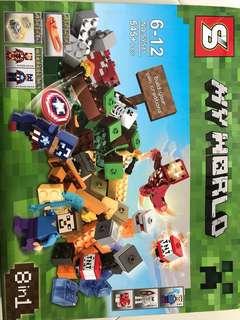 SY541 8 in 1 my world  Lego Set