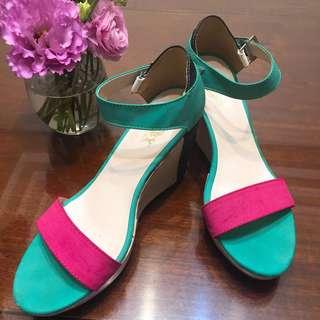 春夏款撞色楔型鞋