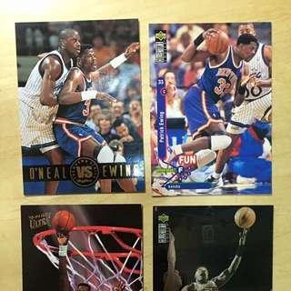 NBA 明星卡 Upperdeck Patrick Ewing 紐約人 New York Knicks 共4張