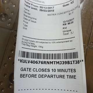 Kidzania kl tiket..valid till 29mac2018