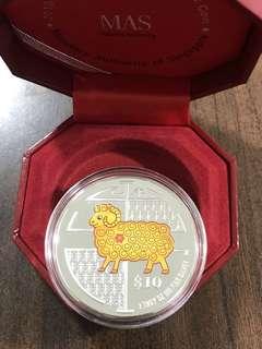 2015 Goat $10 2 oz Silver
