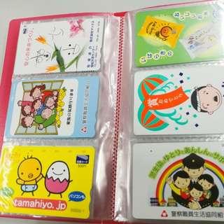 100張珍藏連集卡簿一本日本八九十年代已使用電話卡鐵路卡日本風情畫地鐵圖書風景旅遊