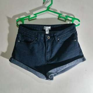 Forever 21 Denim Black Shorts