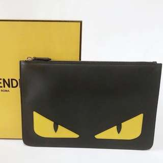 💯Authentic Fendi Monster Clutch