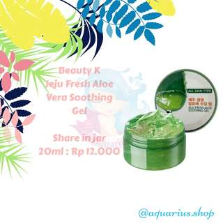 SHARE IN BOTTLE Beauty K Jeju Fresh Aloevera