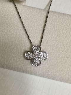 Pt900純鉑金 四葉草🍀幸運草☘️鑽石墜飾☘️🍀