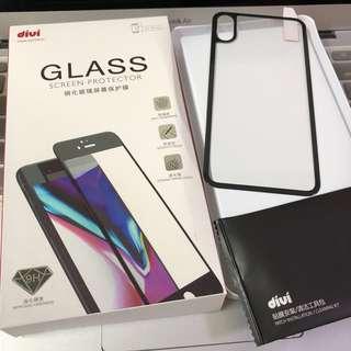 全新 iPhone X 黑邊鋼化玻璃屏幕背膜 保護貼 Mon貼 screen protector