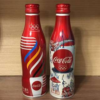 【珍藏版】Coca Cola 可樂鋁樽 - 2018 南韓平昌冬奥特别版 (只計右邊一枝,全新未開)