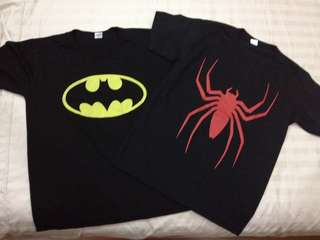BATMAN AND SPIDERMAN SHIRT