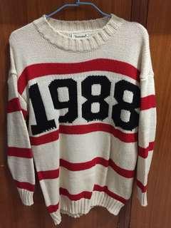 復古 1988 長袖上衣