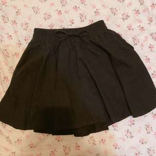 黑色百搭褲裙