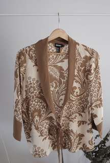 DKNY Silk Top / Cardigan