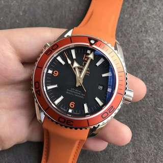 環亞  Omega Seamaster 海馬 8500機芯 背透 膠帶款新版 面交 橙色