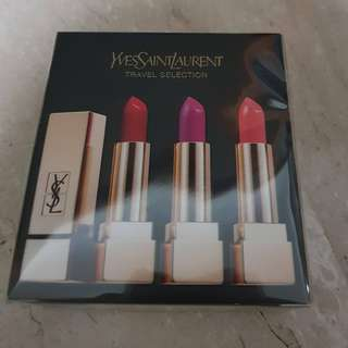 Yves Saint Laurent (YSL) Rouge Pur Couture Full Size Trio Travel Selection Pack  (#1, #19 & #52)