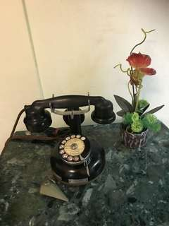 Antique French Pedestal telephone