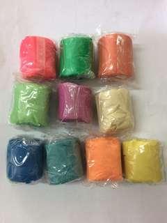 彩色黏土10個