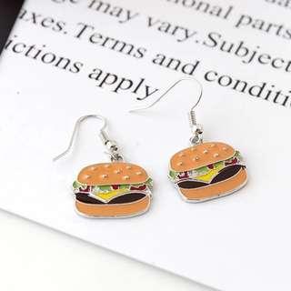 (現貨)漢堡耳環