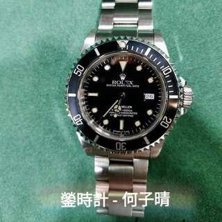 Rolex 16600 深潛SD T25面 以轉黃點 針面對色   淨錶一隻 90%新淨 殼身肥厚 圈片開始轉淡灰色