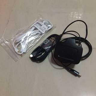 authentic samsung charger, earpiece & cable