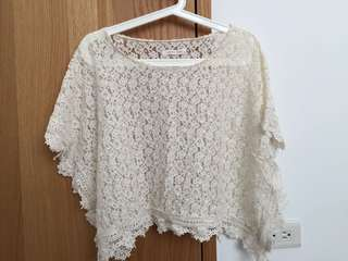 🚚 Lowrys Farm 蕾絲罩衫