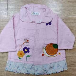 kids pink coat cold