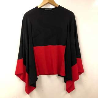 Alexander Mcqueen black and ted top size S