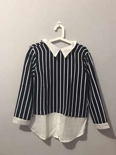 Stripe Navy Shirt (Used Once)