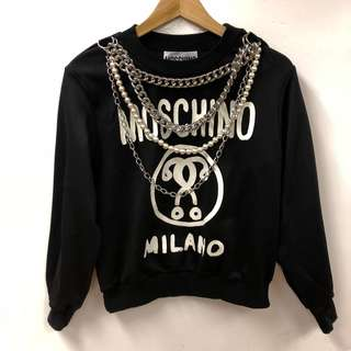Moschino black with silve chains Sweater size F38