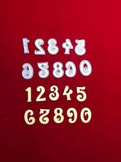 Cursive numbers scrapbooking Cutting Dies