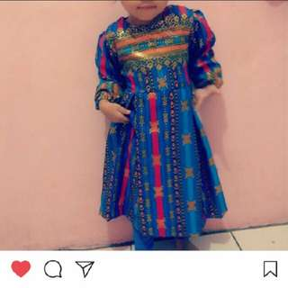 Batik dress anak