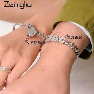 Couples bracelet and bangle