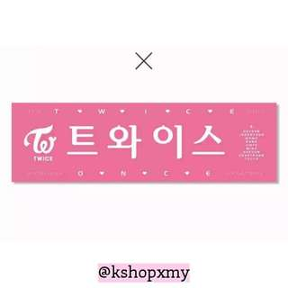 TWICE Pink Hand Banner