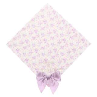 Maison de FLEUR Purple Flower Ribbon Handkerchief