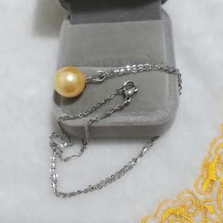 🌠Stainless Chain with  Yellow Pearl Pendant🌠