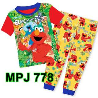 Elmo at the zoo Short Sleeve Pyjamas For (2 Yrs To 7 Yrs)