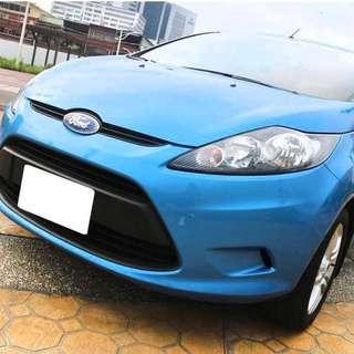 【購車無負擔‧買車夠保障】FORD 2010年 FIESTA 5D 1.4 藍 頂級 服務實在 值得信賴