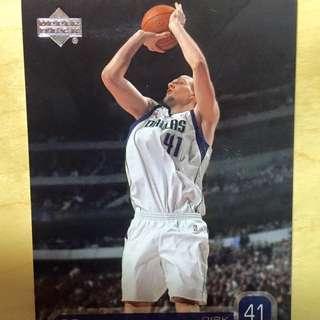 NBA 明星卡 Upperdeck Dirk Nowitzki Dallas Mavericks 達拉斯