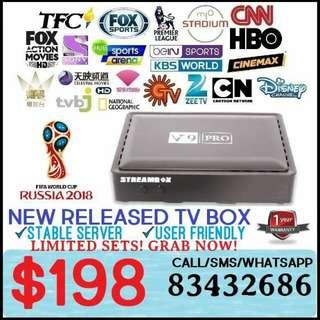 2018 LATEST TV BOX / SCV BOX - V9 PRO