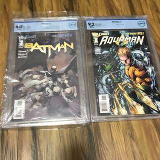 CBCS dc New 52 first issues