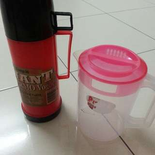 Thermos and Water Pitcher
